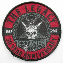 Testament - 'The Legacy - 30 Year Anniversary' Woven Patch